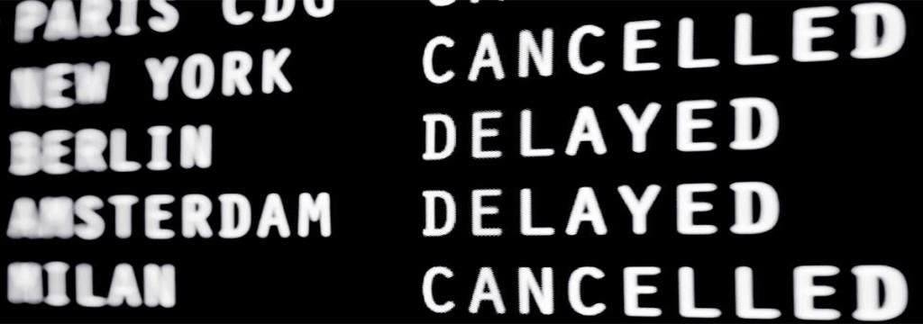 delayed flights departure board