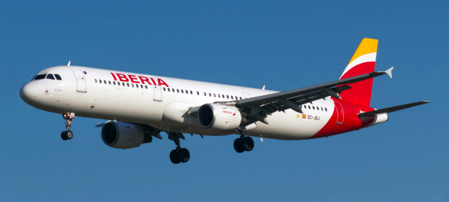 Iberia Plane in Flight