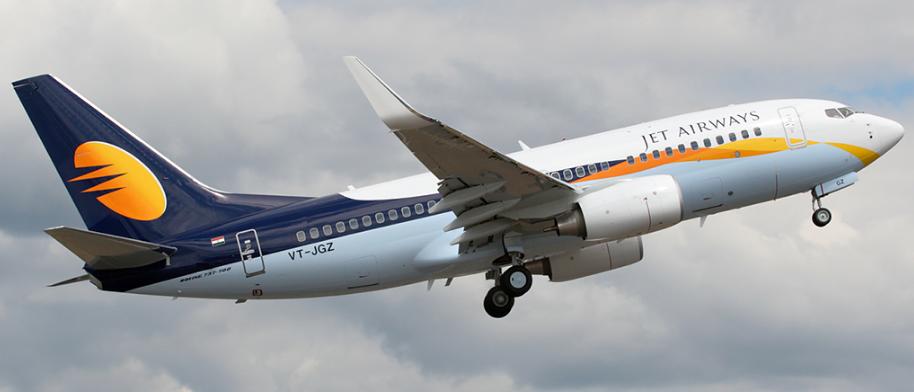 Jet Airways Plane in Flight