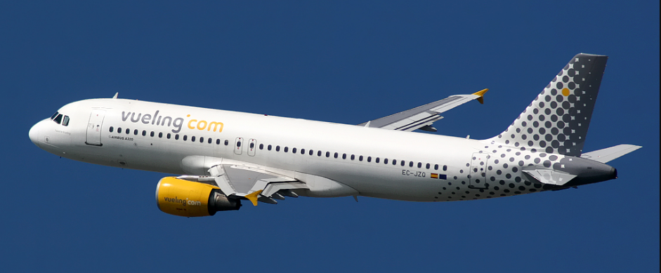 Vueling plane in flight