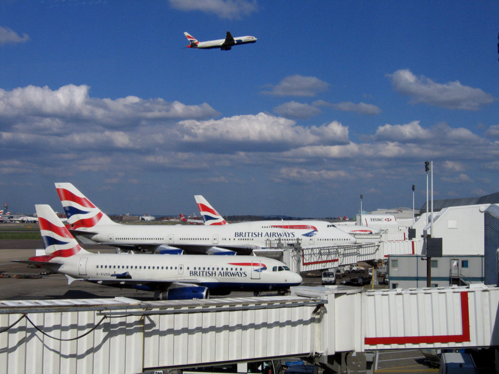 Planes at Heathrow T4
