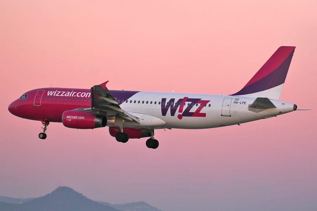 Wizzair Plane in Flight
