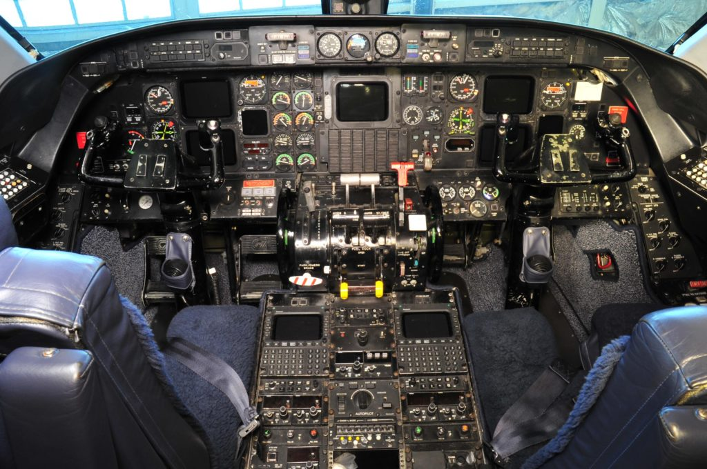 Cockpit with no pilots