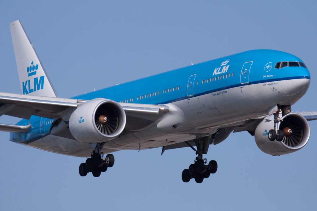 KLM Plane in Flight