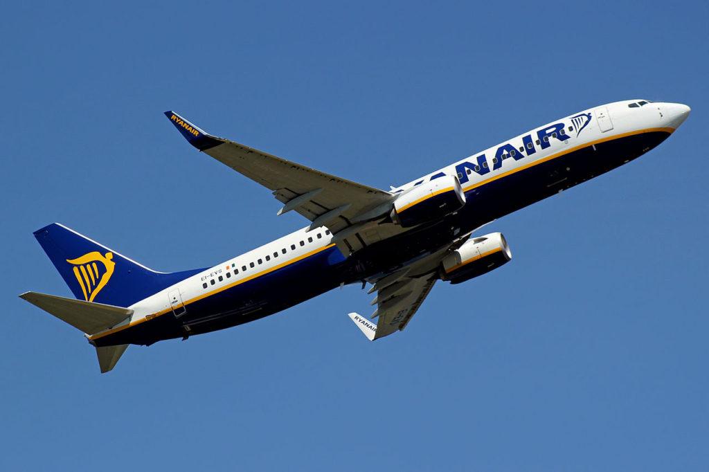 Ryanair Plane in Flight