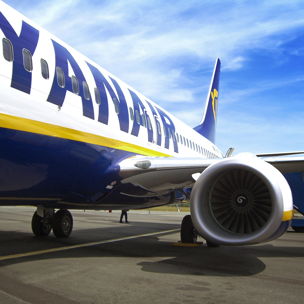Ryanair Plane on Runway