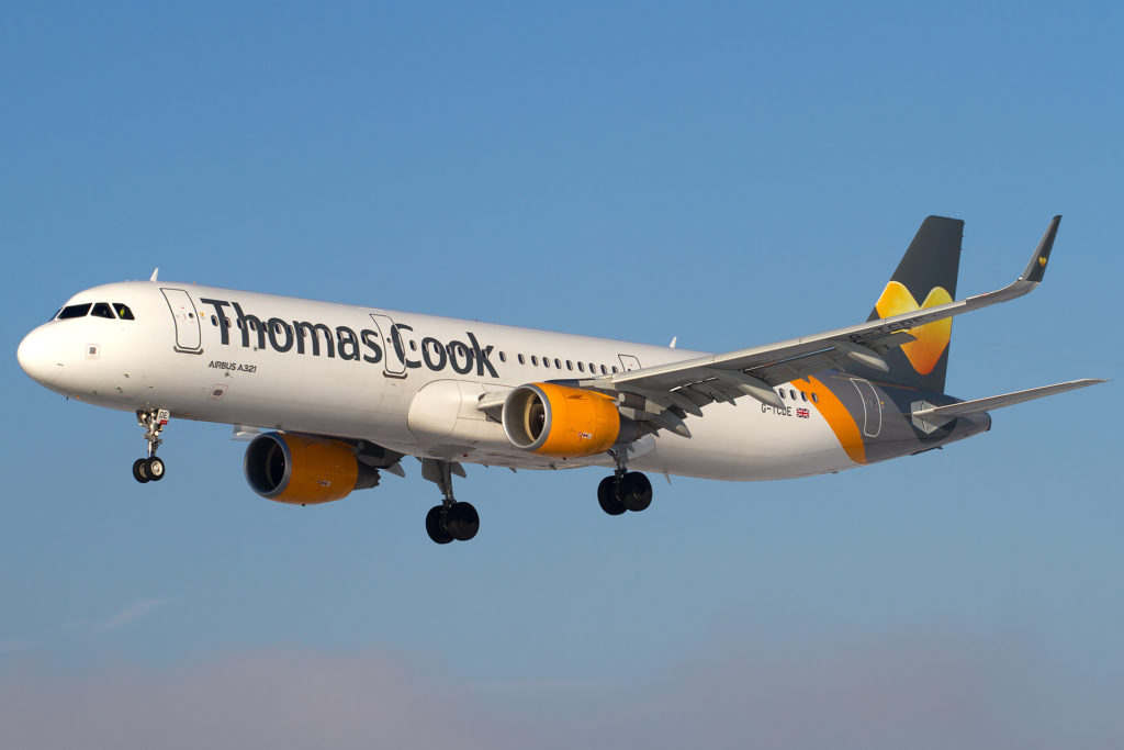 Thomas Cook Plane in Flight