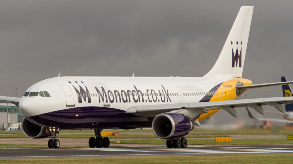 Monarch Plane on Runway